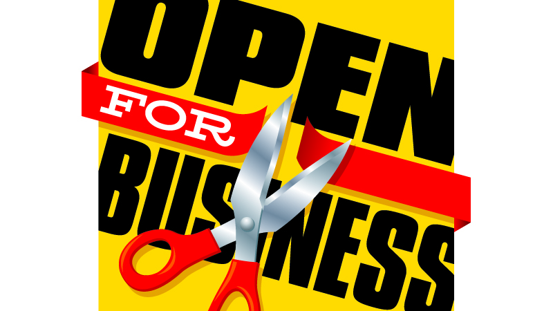 ribbon cutting open for business